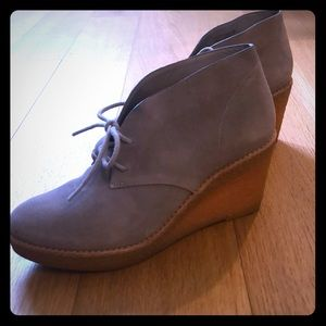 Gray Cole Haan / Nikeair Ankle Wedge Suede Booties